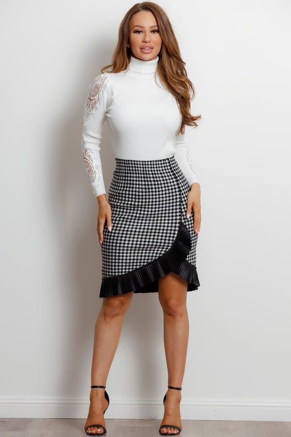 Mila Skirt- Houndstooth.