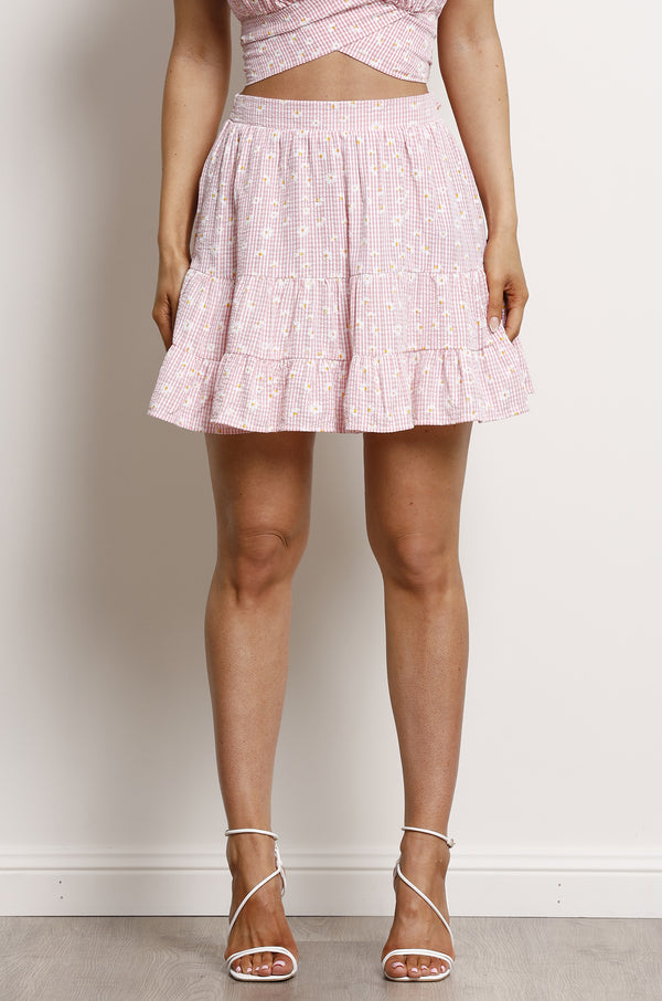 Sweet Daisy Skirt- Pink.