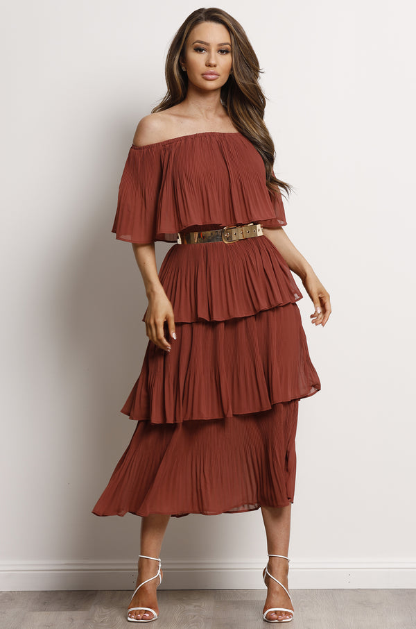 Salsa Dress- Rust.