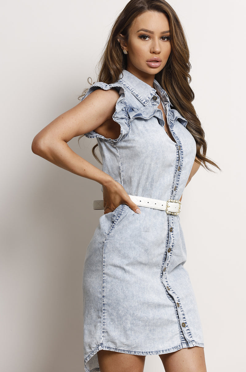 Ohio Dress- Denim.