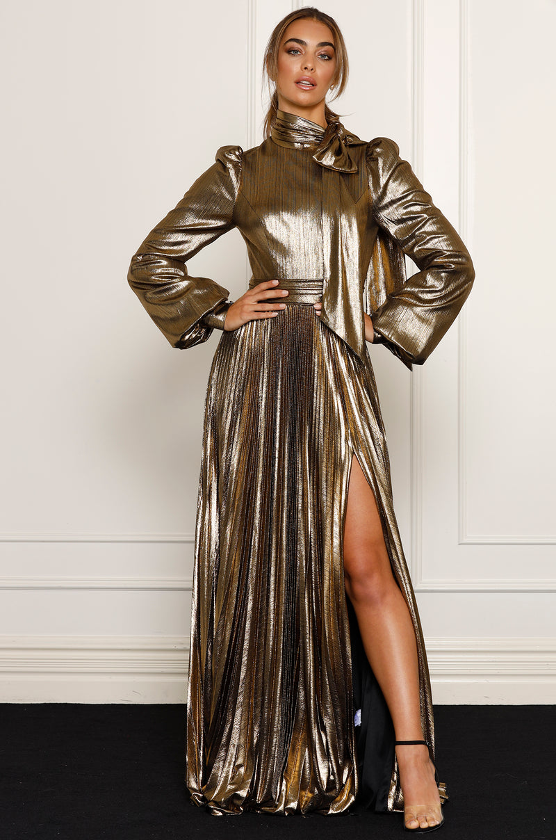 Apollo Gown- Gold.