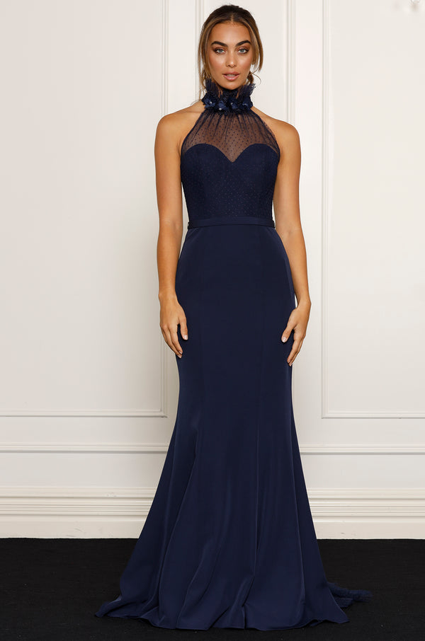 Ivy Gown- Navy.