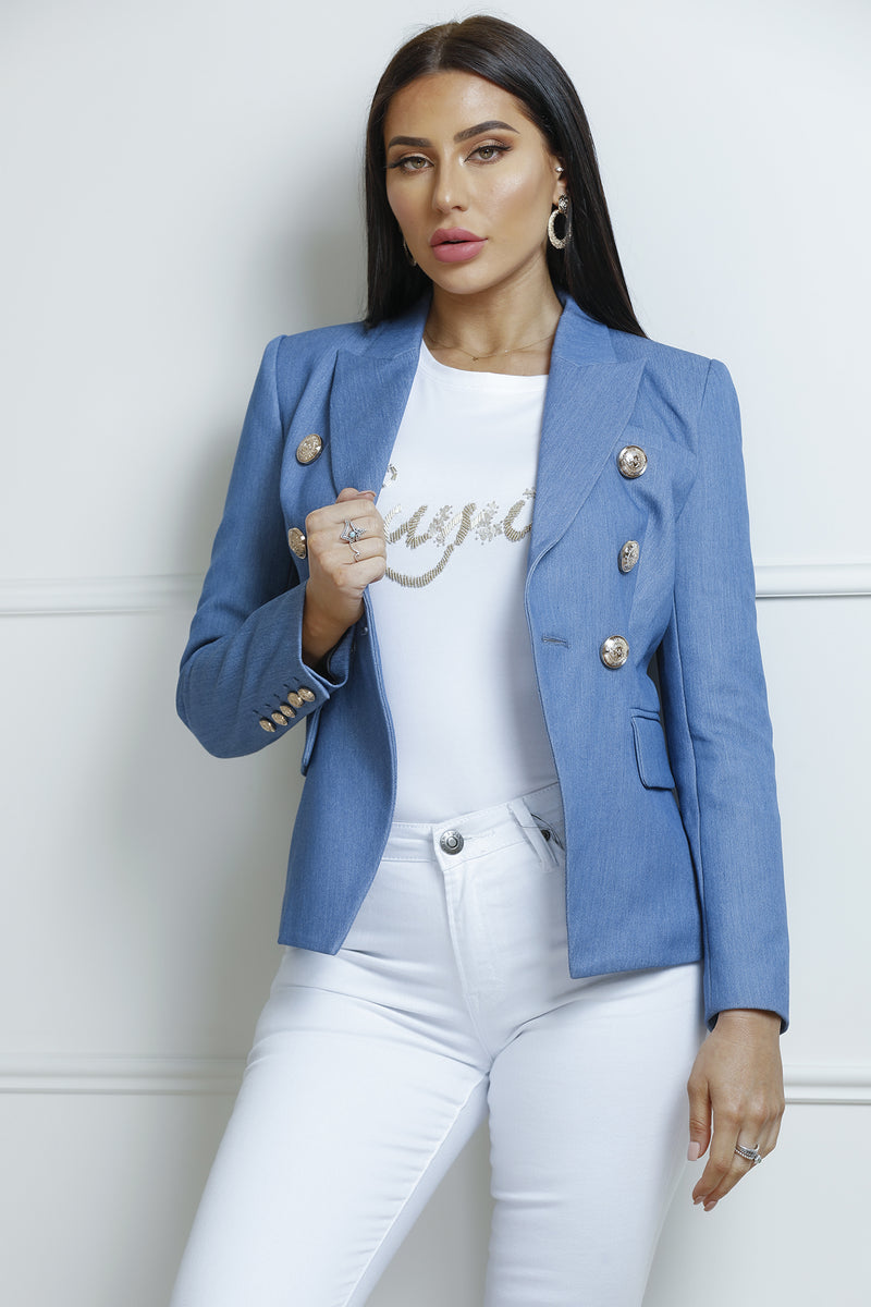 Charny Blazer- Denim Blue.