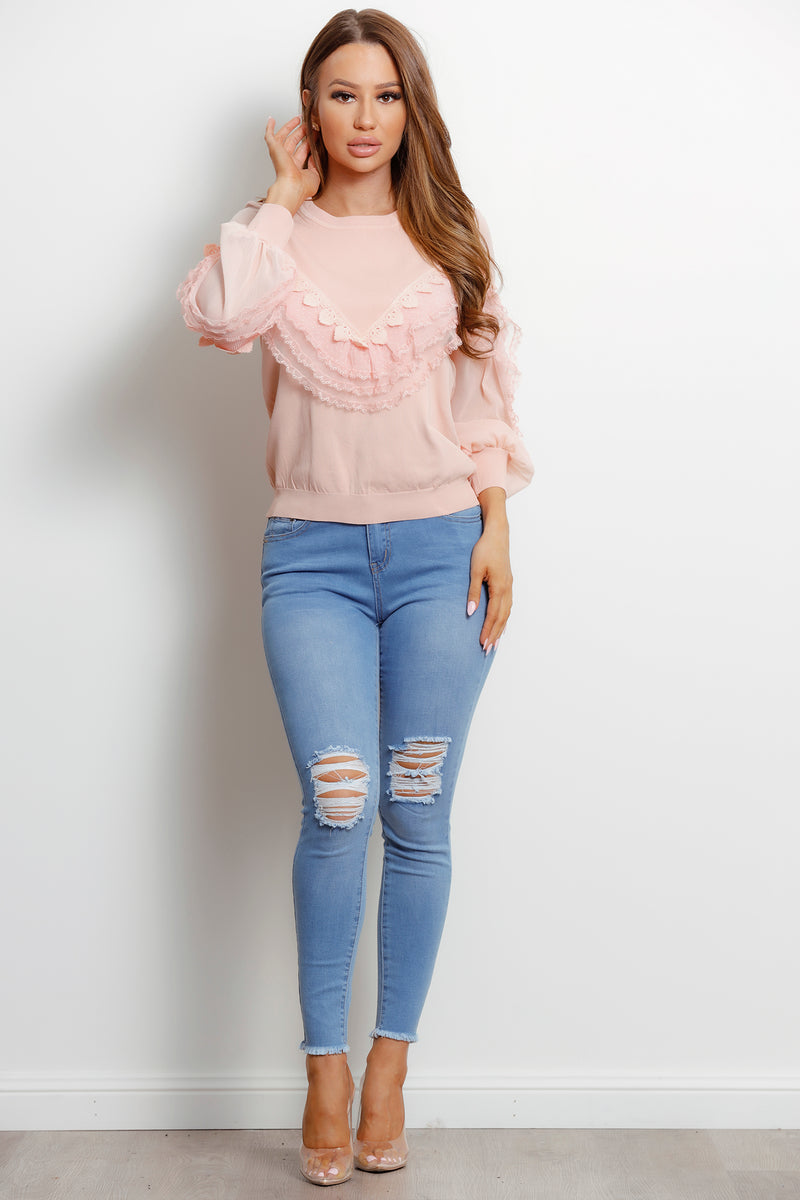 Lilly Rose Knit- Pink.