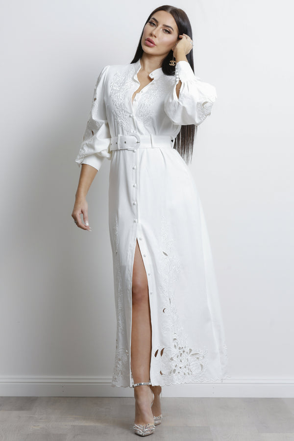 Cara Maxi dress- White.