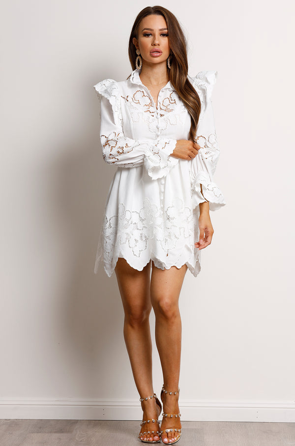 Faith Dress- White.