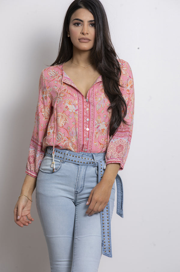 Nerine Blouse- Pink.