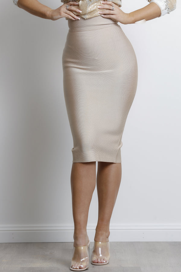 Lana Bandage Skirt - Gold