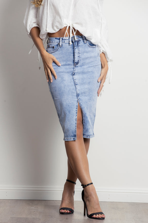 United Skirt- Acid wash.