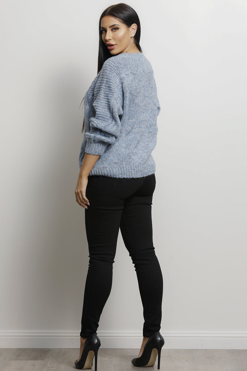 Exotic Knit- Blue.