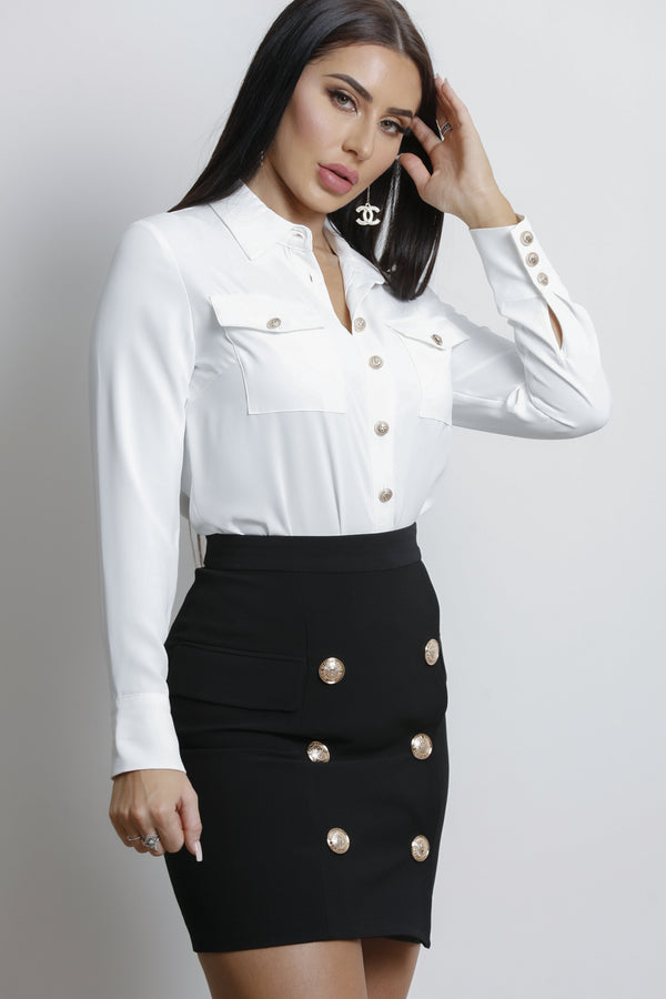 Amelia Blouse- White.