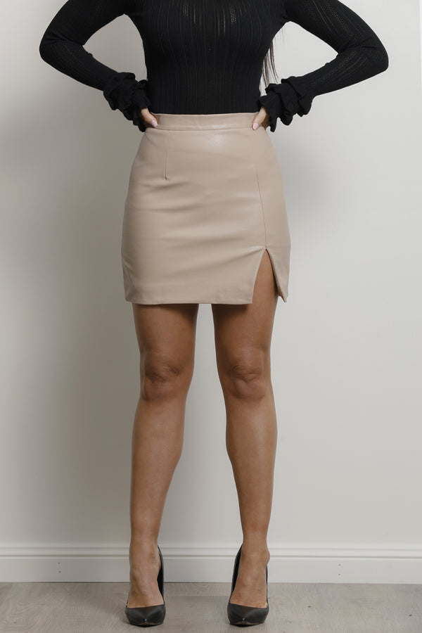 Gina Skirt- Pu Latte.