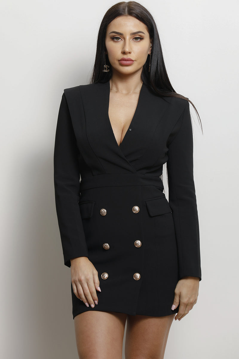 Charny Long Sleeve Dress- Black.