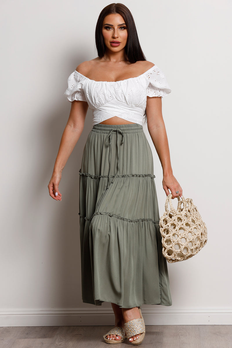Lullaby Skirt- Khaki.