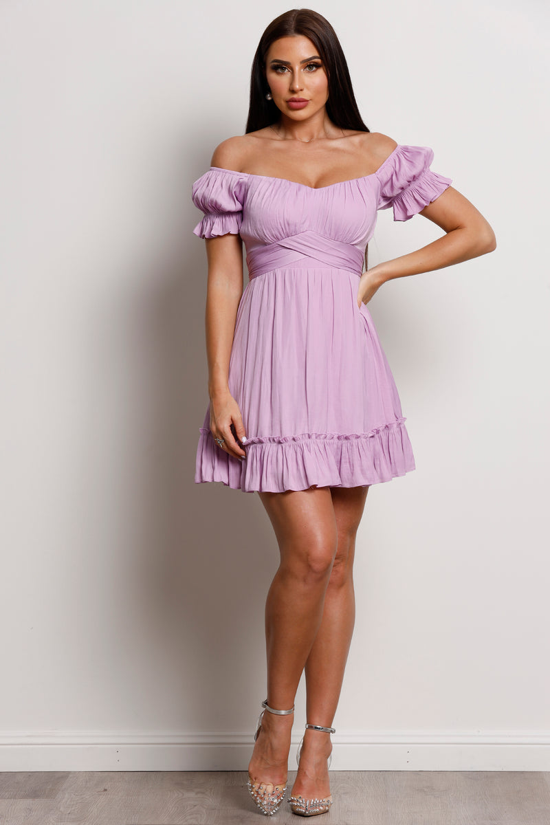 Sweet Pea Dress- Lilac.