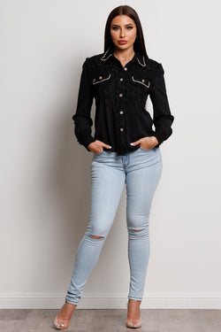 Posh Blouse- Black.