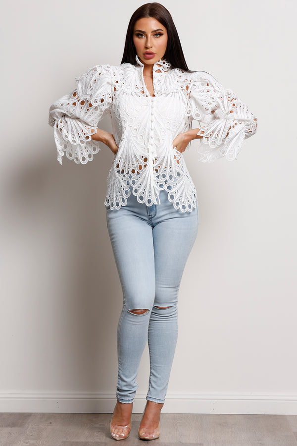 Fallen Angel top- White.