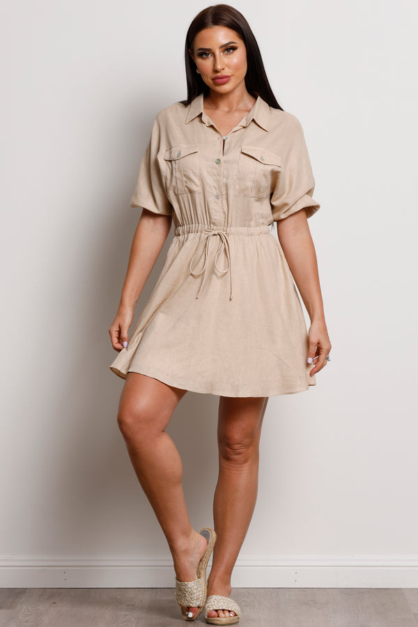 Desert Sand Dress- Beige.