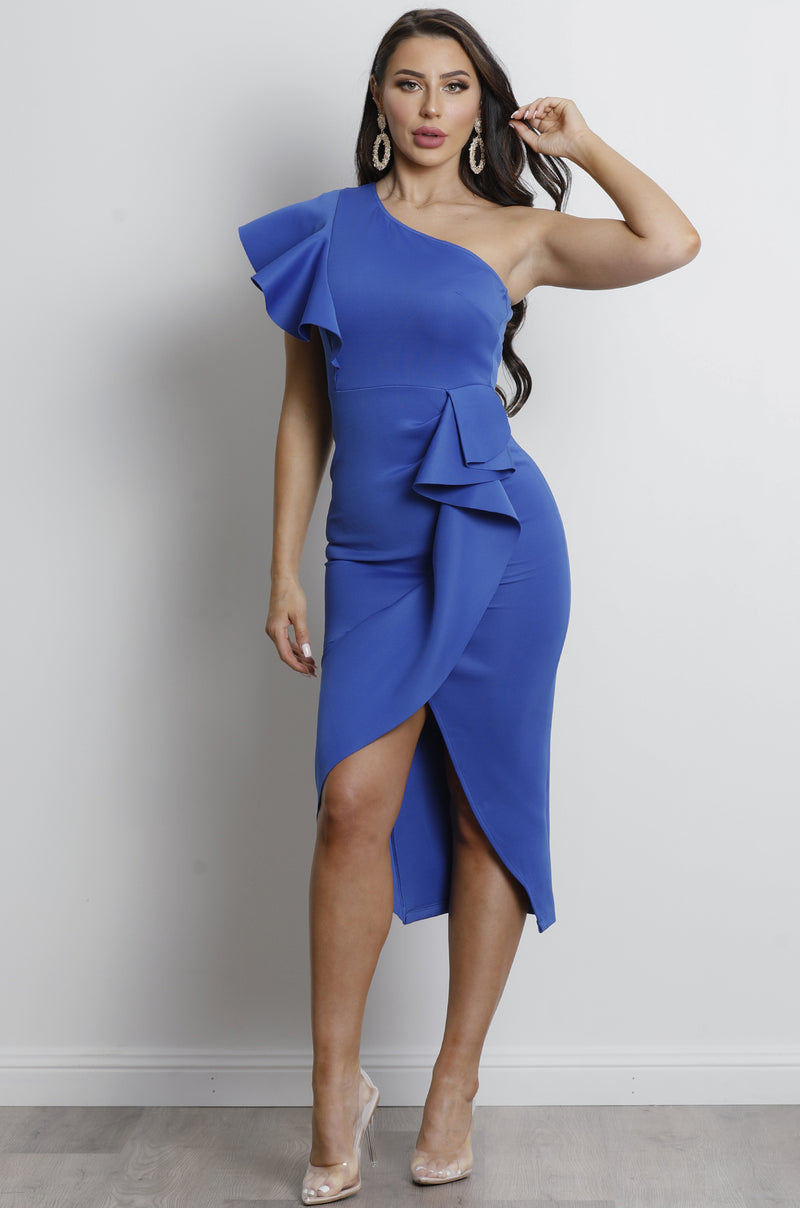 Lucia Midi Dress - Cobalt Blue.
