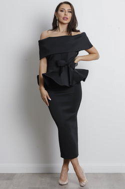 Juliana Two Piece Set - Black.