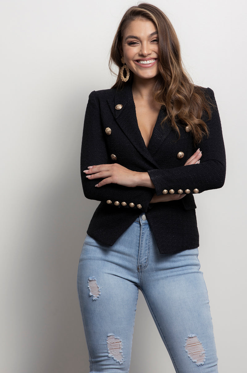 Chantel Blazer- Black.