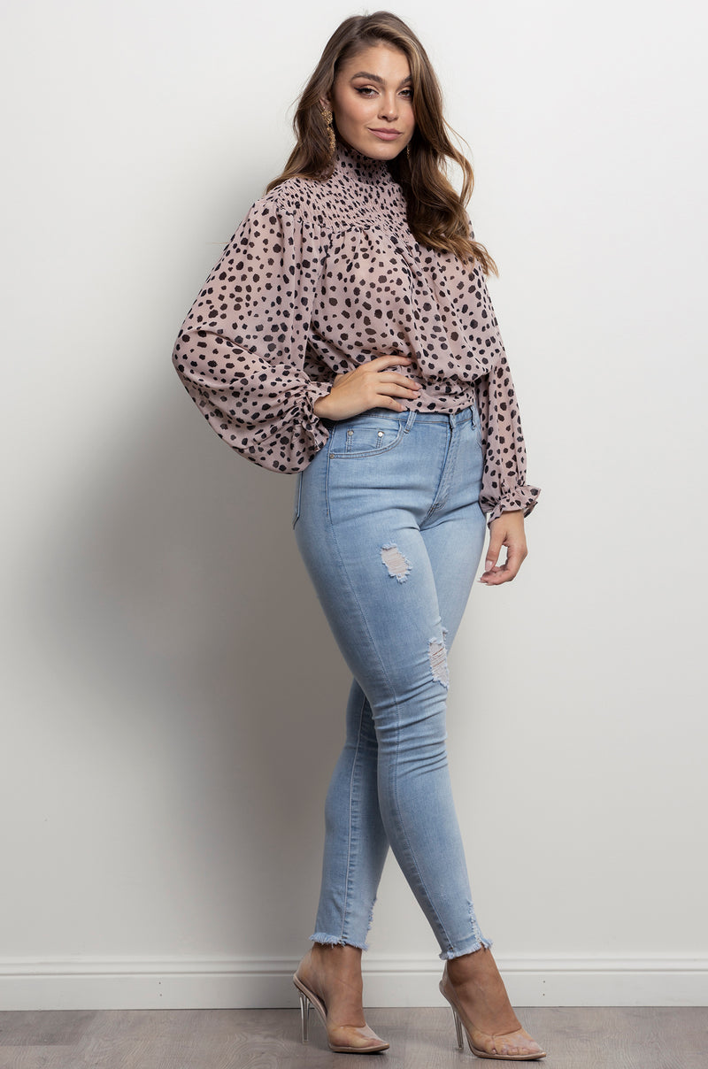 Lola Blouse- Dusty Pink.