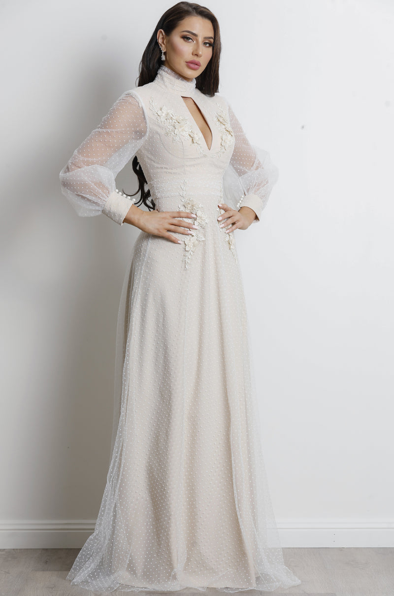 Monarch Gown- Beige.
