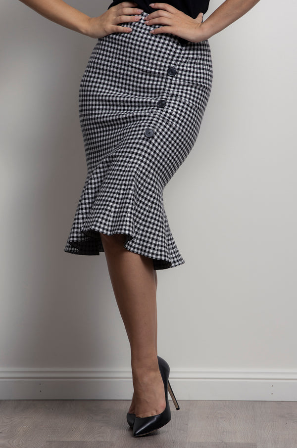 Ivanah Skirt- Houndstooth.