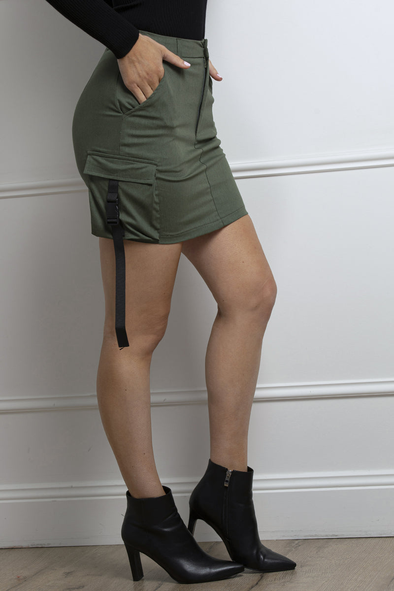 Surrender Skirt- Khaki.