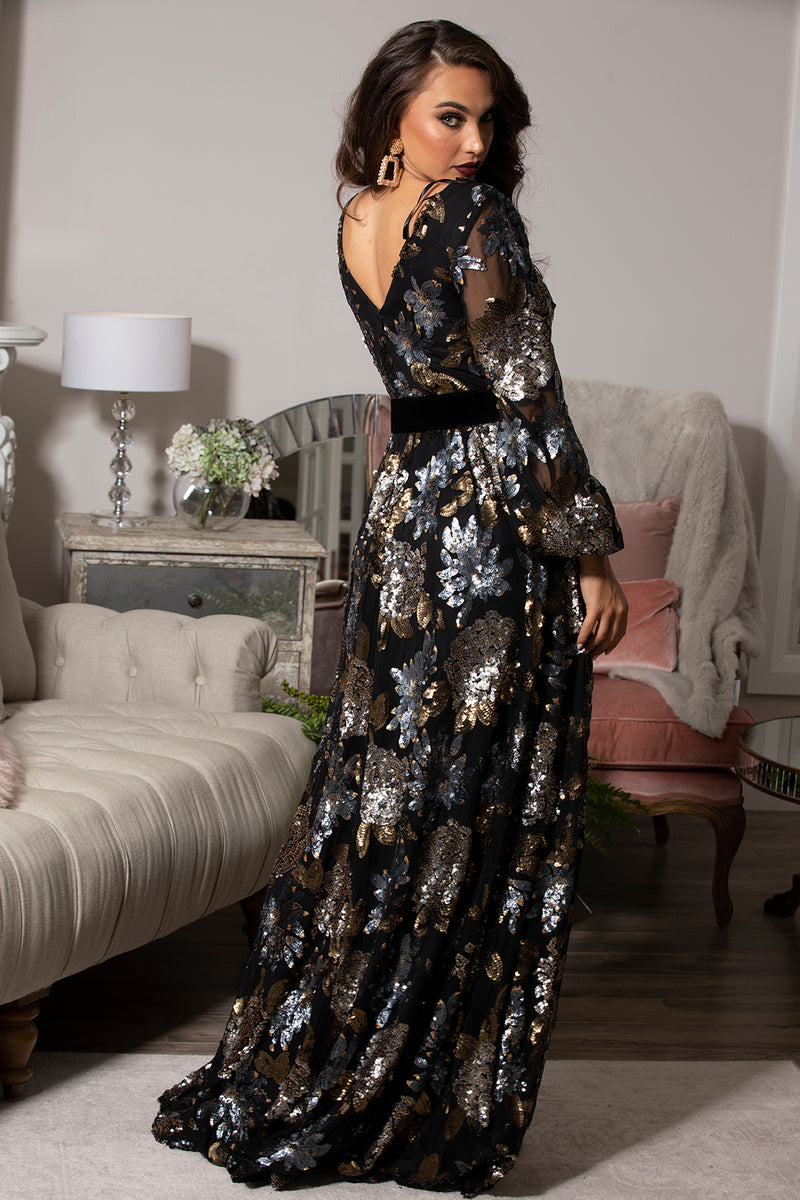 Antique Florence Sequin GOWN