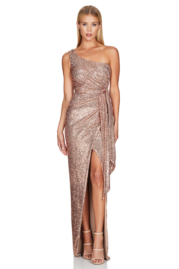 Palazzo Gown - Rose Gold.