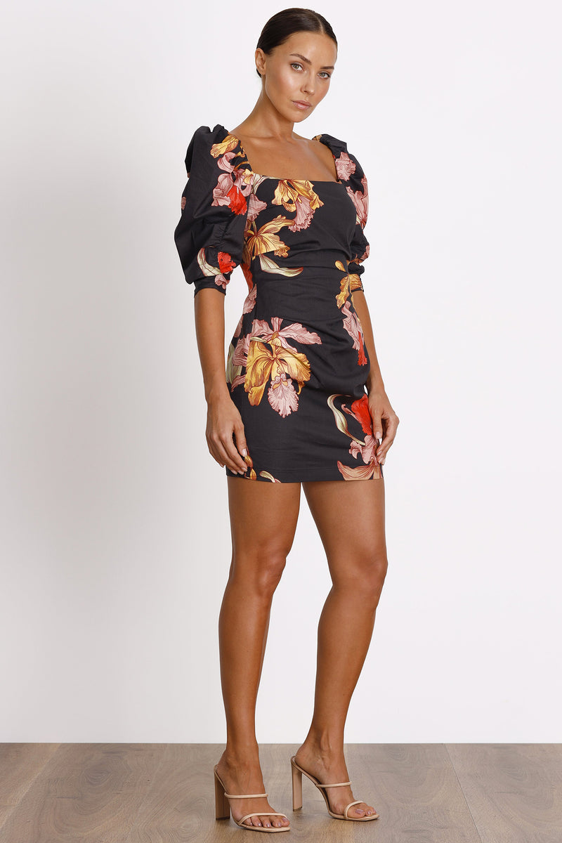 Calyx Dress- Dark Floral.