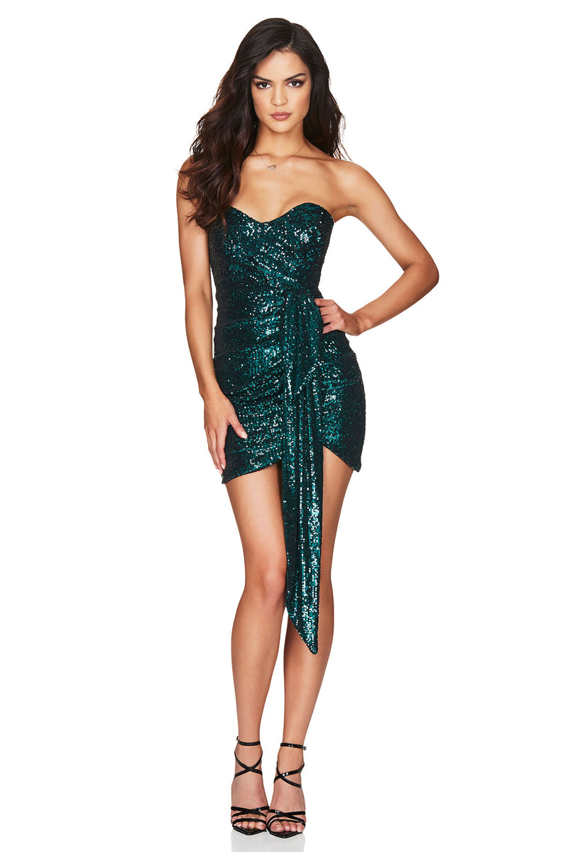 Selena Strapless Mini - Teal.
