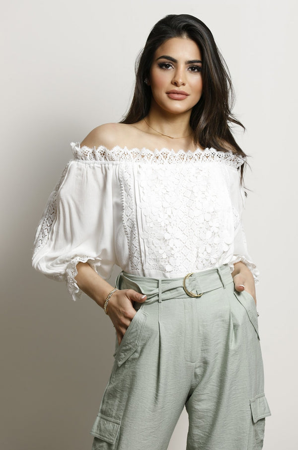 Yasmine Top- White.