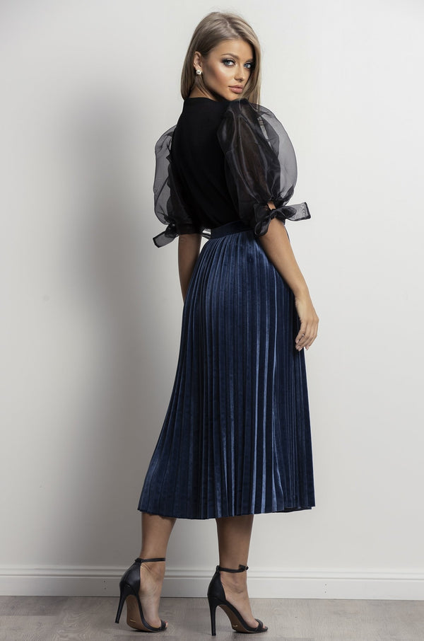 Midnight Daze Skirt- Blue.