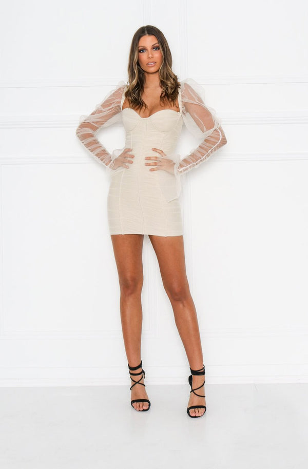 Rosalia Dress - Nude.
