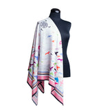 Affirmation Shawl with auspicious birds