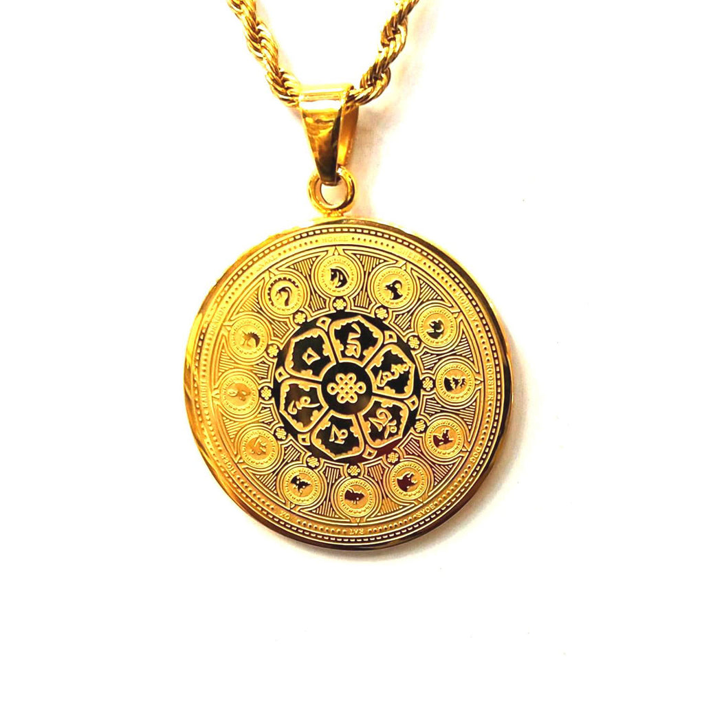 12 ASTROLOGY WITH MANTRA & MK MEDALLION (GOLD)