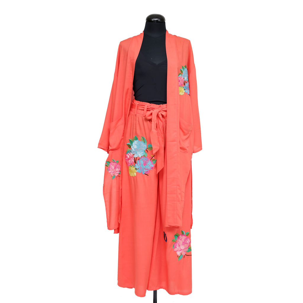 PEONY FLOWER- BLAZER AND PANTS(PAIR)