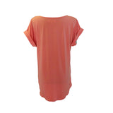 Continuous Sleeves Top Horse Coral