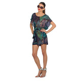 Belted Kaftan Dress Rhino - Navy Blue