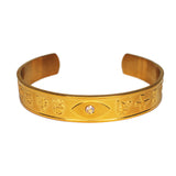Bangle with Ultimate Mantra Protection - Gold