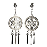 DANGLING EARRINGS MYSTIC KNOT (SILVER)