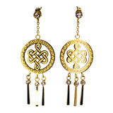 DANGLING EARRING MYSTIC KNOT (GOLD)