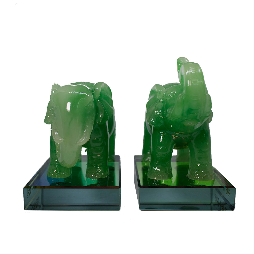 PAIR OF ELEPHANT- TRUNK UP & DOWN (A47)