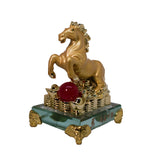 GOLDEN LEAPING HORSE ON COINS (SMALL) (A21)