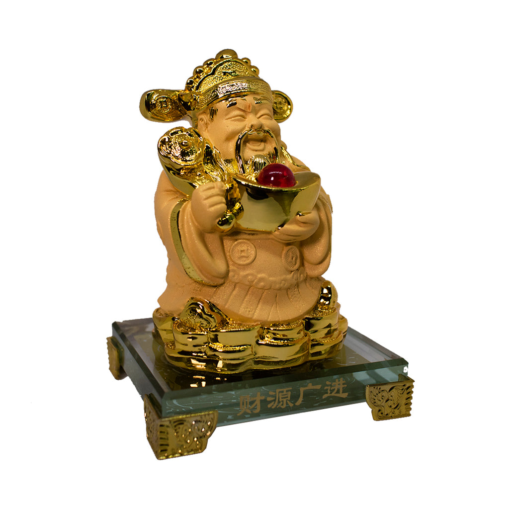 WEALTH GOD CAI SHEN HOLDING INGOT (SMALL)(A5)