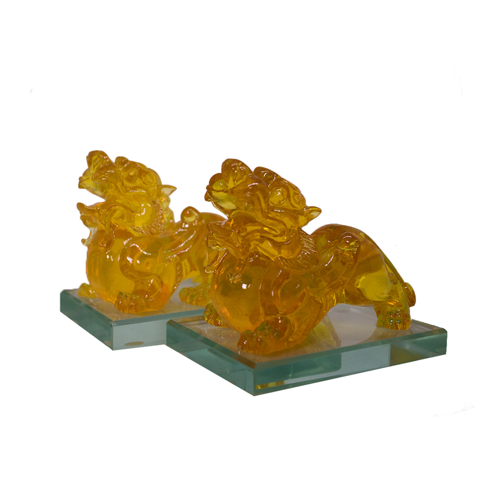 PAIR YELLOW PIYAO (SMALL) (A46)