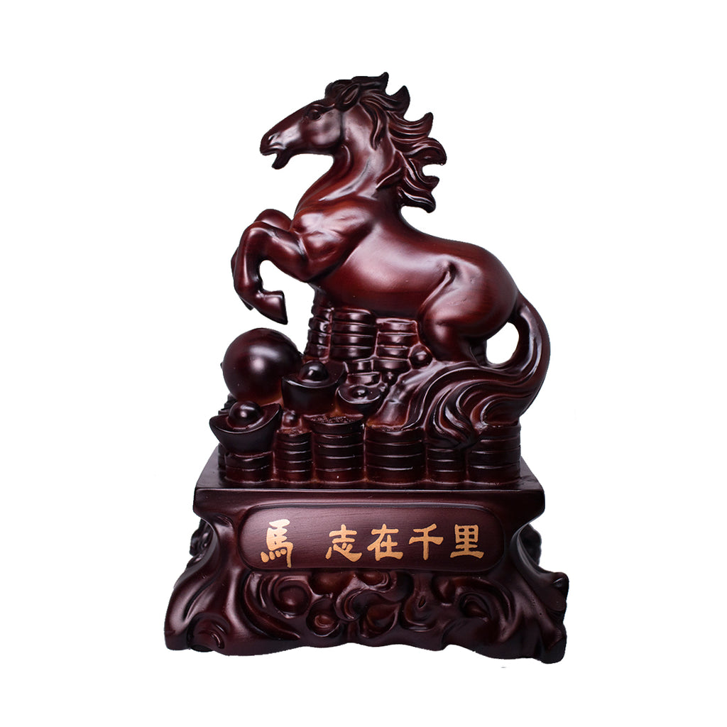 BROWN HORSE ON BED OF COINS (BROWN) (A6)