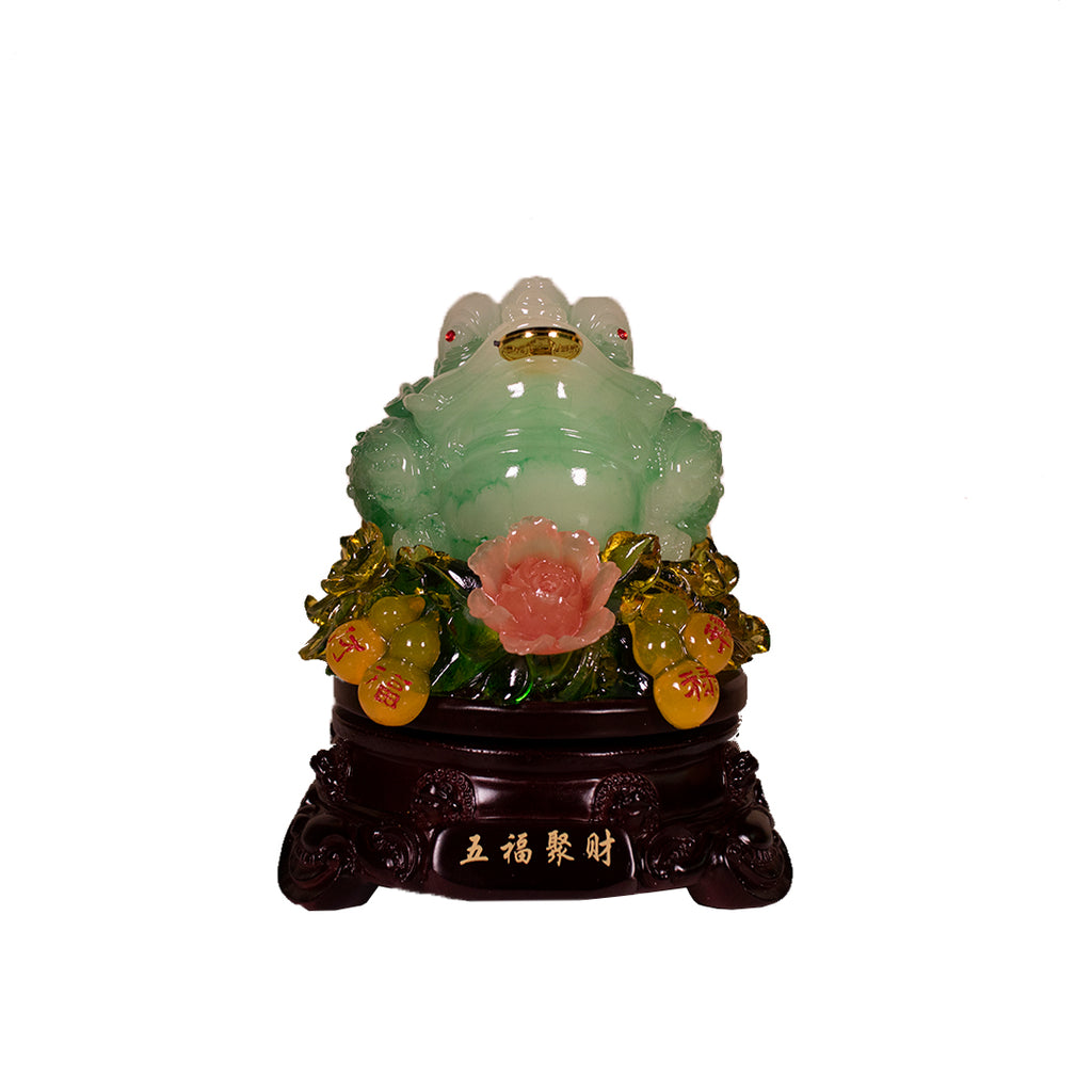 ROTATING 3 LEGGED TOAD WITH WULOU (SMALL) (A53)